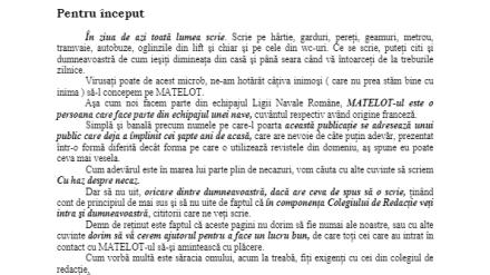 Revista Matelot nr. 1