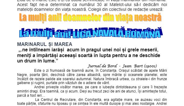 Revista Matelot nr. 30